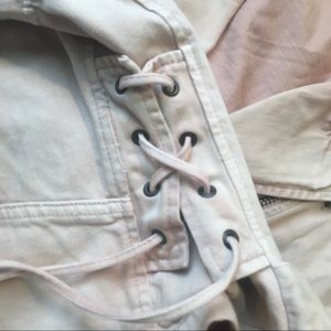 Free People Jackets & Coats - Free People Oversized Denim Moto Jacket in Rose